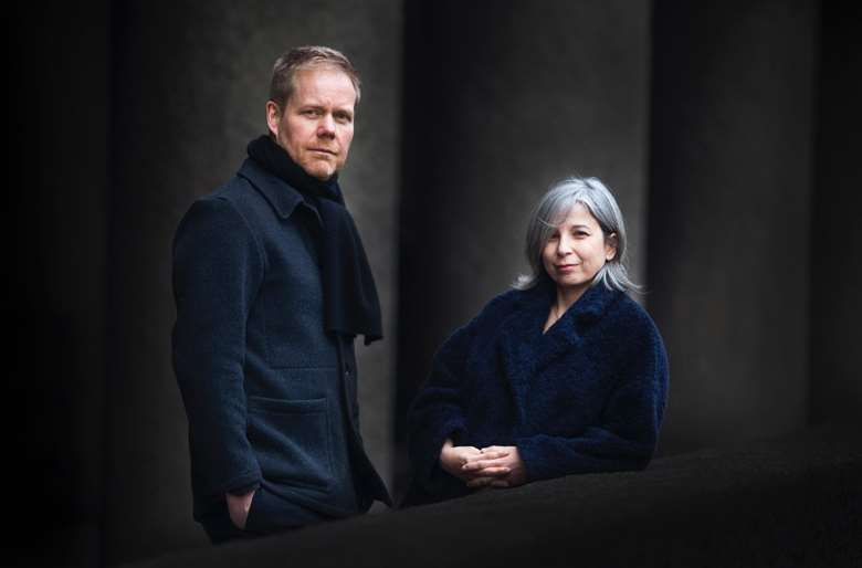 Max Richter and Yulia Mahr, the creative team behind Voices (photo: Mike Terry)