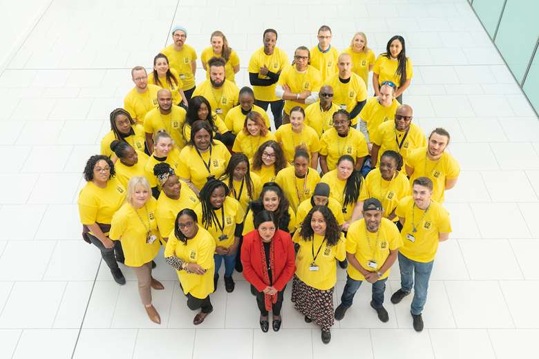Newham mayor Rokhsana Fiaz welcomes new youth workers. Picture: Newham Council