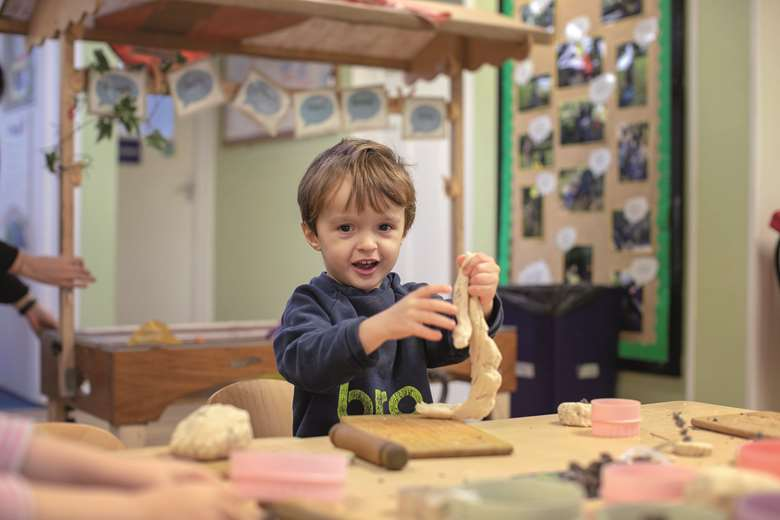The use of malleable materials needs to be planned for to ensure children enjoy the full range of learning benefits