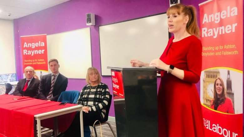 Shadow education secretary Angela Rayner announcing Labour's plans to improve education. Picture: Labour Party