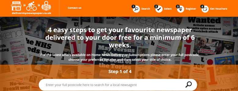 A number of titles are offering free delivery via the Deliver My Newspaper service