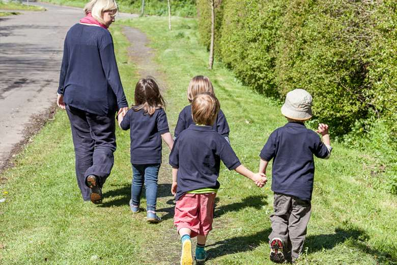Wolds childcare. Director Karen Richards, says she is not taking a salary to make ends' meet