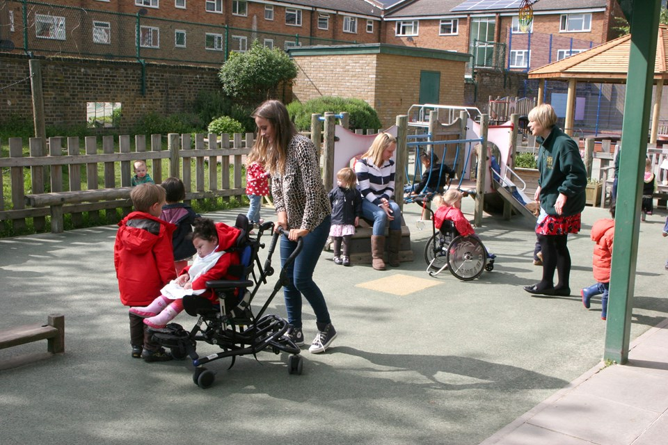 The outstanding Robert Owen Nursery School in Greenwich prioritises on an inclusive environment.