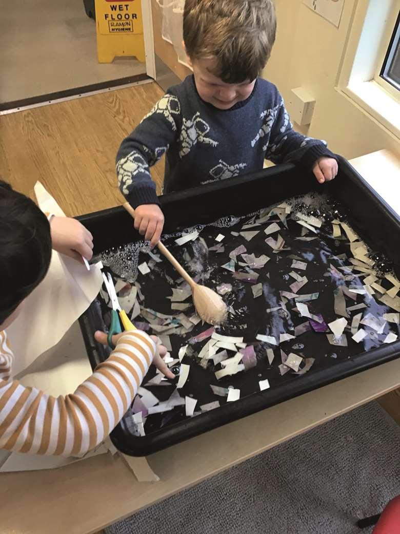 EYFS Activities   We've explored… making paper   Nursery World