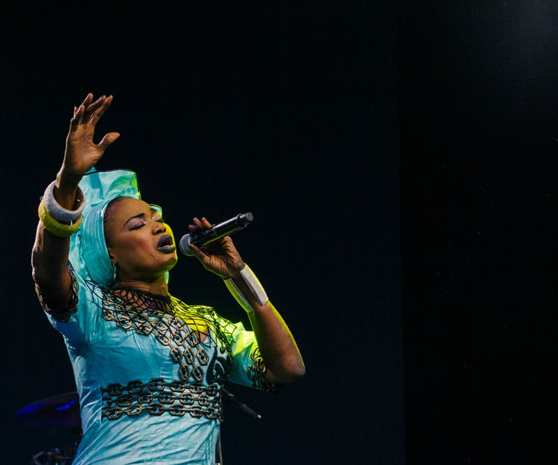 Oumou Sangaré at WOMAD 2017 (photo: Tom Askew-Miller)