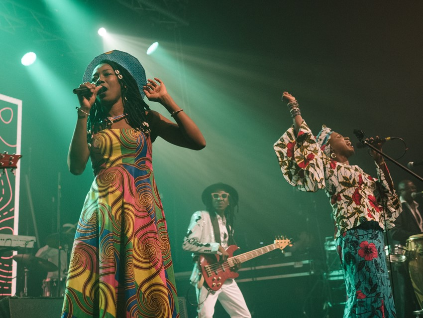 Fatoumata Diawara and Angélique Kidjo were backed by an all-star house band